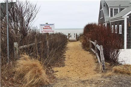 Brewster Cape Cod vacation rental - Just down the private road is the path to the Bay and beach