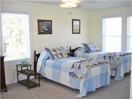 Brewster Cape Cod vacation rental - Upstairs bedroom with 2 antique single beds + a double bed