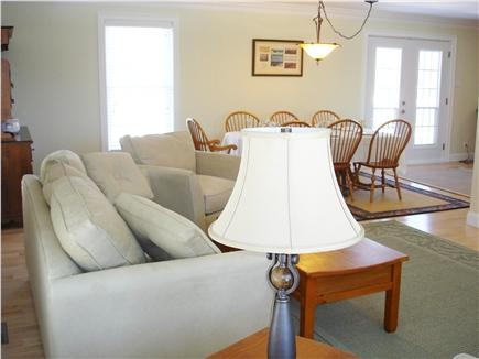 Brewster Cape Cod vacation rental - Large open living room with big screen TV.
