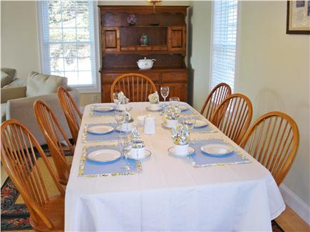 Brewster Cape Cod vacation rental - Dining room-expandable with extra 6' maple table