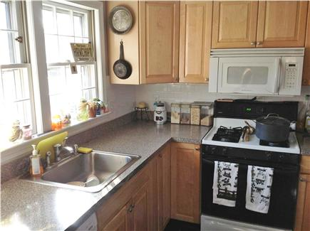 Harwich Cape Cod vacation rental - Kitchen and windows to back yard