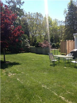 Falmouth Heights Cape Cod vacation rental - Back yard ~ outdoor shower