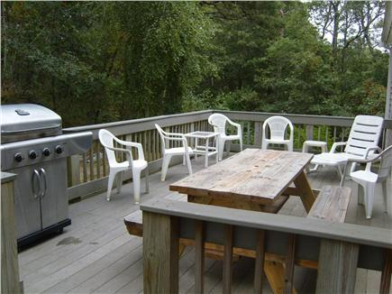 Harwichport Cape Cod vacation rental - View of large ''Trex'' deck