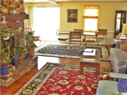 Harwichport Cape Cod vacation rental - Fireplaced living room