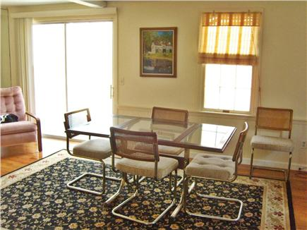 Harwichport Cape Cod vacation rental - Dining area with sliders to deck