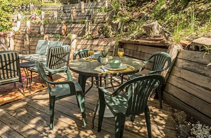 Provincetown Cape Cod vacation rental - Back deck.