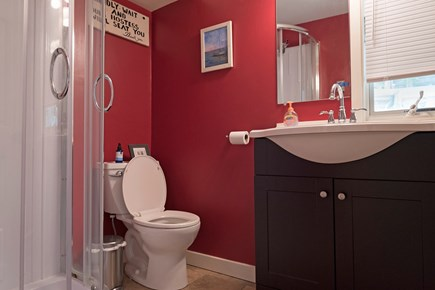 Provincetown Cape Cod vacation rental - First floor bathroom .