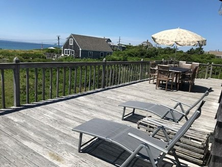 North Truro Cape Cod vacation rental - Beautiful large deck overlooks Cape Cod Bay and Provincetown