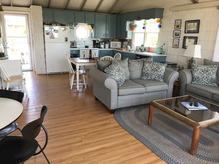 North Truro Cape Cod vacation rental - Open concept living area and kitchen