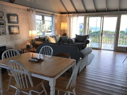 North Truro Cape Cod vacation rental - Enjoy the view of the bay while dining with friends and family