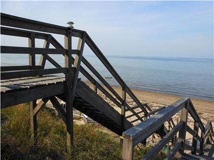 North Truro Cape Cod vacation rental - Stairway to private beach