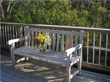 Truro Cape Cod vacation rental - Side (south) deck