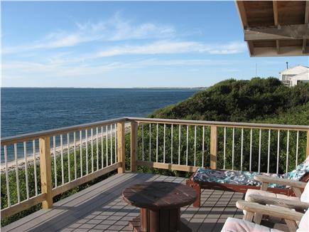 Truro Cape Cod vacation rental - Deck looking north