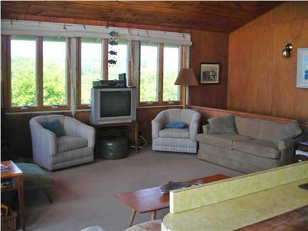 Truro Cape Cod vacation rental - Living room looking north