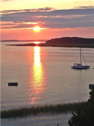 Wellfleet Cape Cod vacation rental - Best Sunset in Wellfleet from Deck