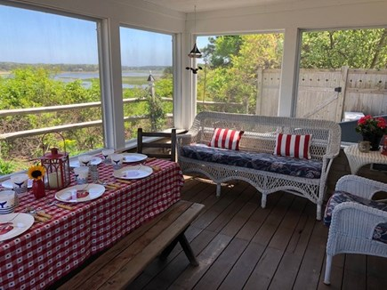 Wellfleet Cape Cod vacation rental - Screened Porch with Views of Marsh