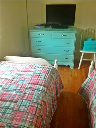 Dennis Cape Cod vacation rental - Twin Bedroom with 3 new twins & Second TV