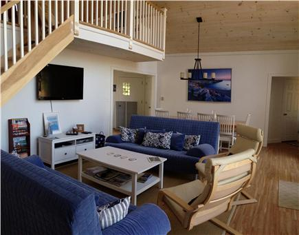 West Barnstable/Sandy Neck Bea Cape Cod vacation rental - Family room and view of loft above and dinning area