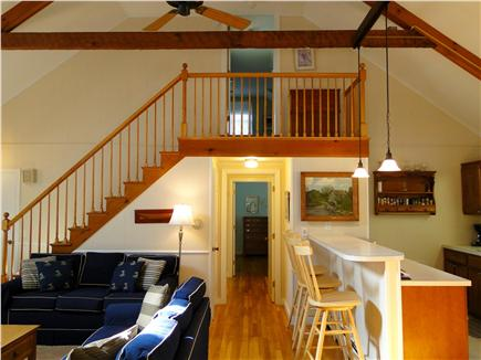 Brewster Cape Cod vacation rental - Great Room with view towards upstairs bedroom