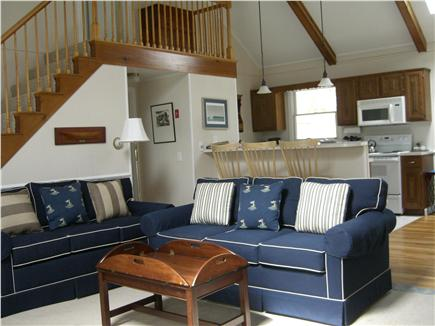 Brewster Cape Cod vacation rental - Open Great Room w/view towards dining area & kitchen