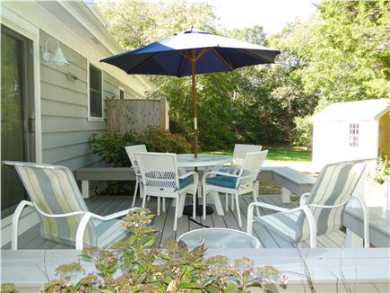 Brewster Cape Cod vacation rental - Back deck and outdoor shower