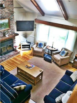 Brewster Cape Cod vacation rental - View of Great room from above