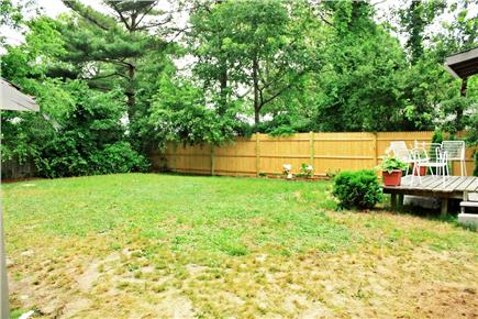 South Yarmouth Cape Cod vacation rental - Exceptionally large, private. fenced in back yard wit back deck