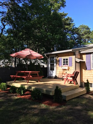 South Yarmouth Cape Cod vacation rental - Back deck for relaxing and dining