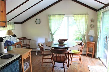 South Yarmouth Cape Cod vacation rental - Open Dining area with sliding door to porch