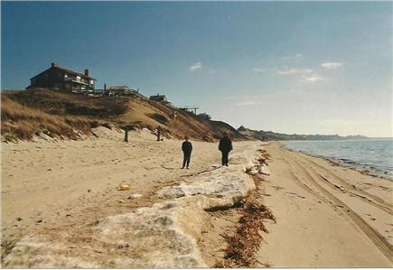 North Truro Cape Cod vacation rental - Walking on the beach in the off season