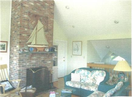 North Truro Cape Cod vacation rental - Living room with vaulted ceiling