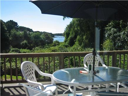 East Orleans Cape Cod vacation rental - Spacious Deck off kitchen; view of water and tranquil property