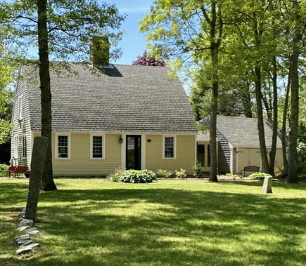 Sandwich Cape Cod vacation rental - Front View of Home-spacious yard(1/2 acre)