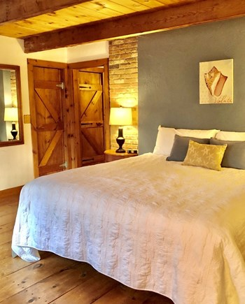 Sandwich Cape Cod vacation rental - Master bedroom with King Bed w/ TV
