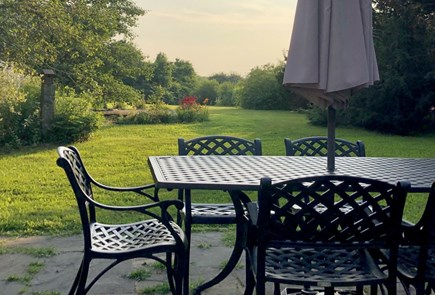 Sandwich Cape Cod vacation rental - View of back yard-lovely for outdoor dining