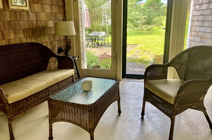 Sandwich Cape Cod vacation rental - Breezeway-perfect for morning coffee