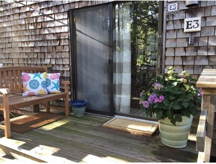 Wellfleet Cape Cod vacation rental - Front deck entrance