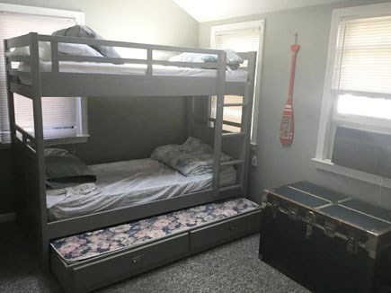 Dennis Port Cape Cod vacation rental - Spare room with twin bunk beds and additional trundle. Pic 1 of 2
