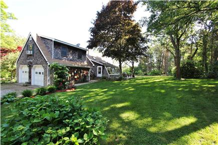 East Orleans Cape Cod vacation rental - Rear/side yard, deck, & studio apt w private entry and bath