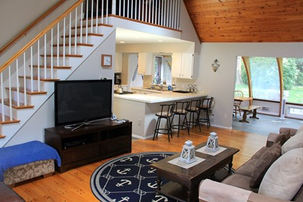 East Orleans Cape Cod vacation rental - Great Room (upstairs leads to private master suite)
