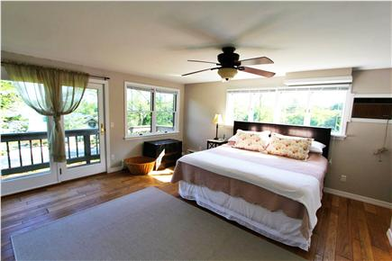 East Orleans Cape Cod vacation rental - Master bedroom (with A/C - private deck & lg bath w/ water view)
