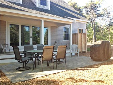 Truro Cape Cod vacation rental - Back patio