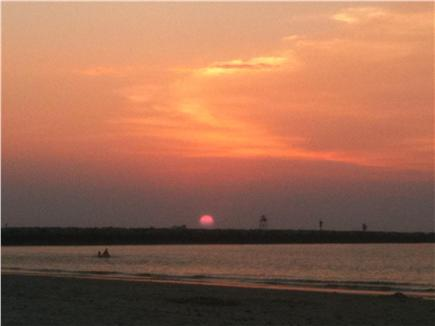 East Dennis Cape Cod vacation rental - Sunset over the Bay