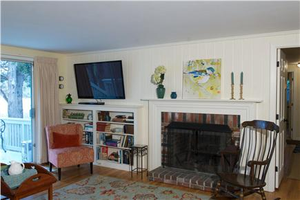 East Dennis Cape Cod vacation rental - Living room also has a large screen TV