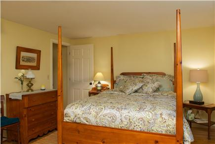 East Dennis Cape Cod vacation rental - Master bedroom with Queen bed with new mattress, TV