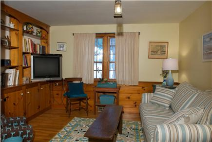 East Dennis Cape Cod vacation rental - Den with new pull out double sofa bed