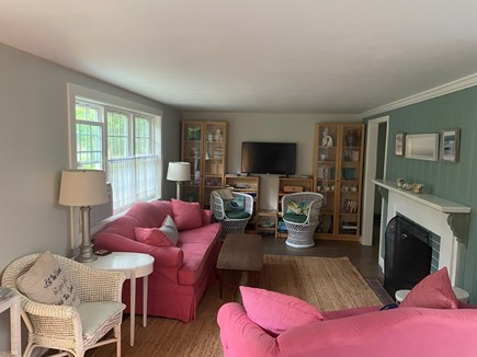 Long Pond, Harwich Cape Cod vacation rental - Spacious and comfortable living room with flat panel TV.