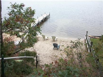 Long Pond, Harwich Cape Cod vacation rental - One of 3 private beaches at the end of the road!