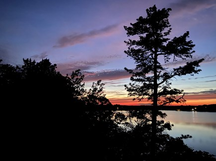 Long Pond, Harwich Cape Cod vacation rental - Sunset over the water