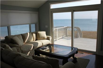 Plymouth MA vacation rental - Living room with panoramic ocean views